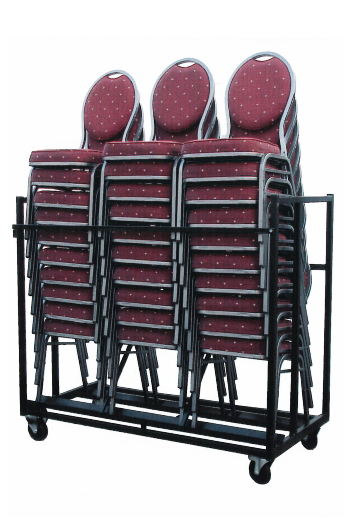 Transportkar voor 30 stackchairs